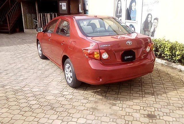 Nigeria Used Toyota Corolla 2009 Model Red-8
