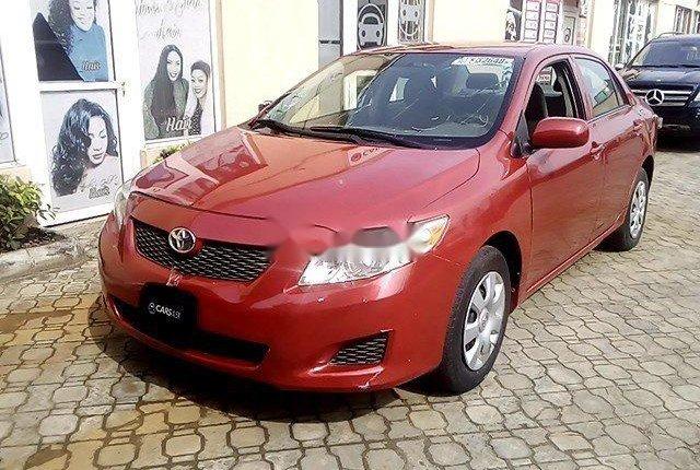 Nigeria Used Toyota Corolla 2009 Model Red-11