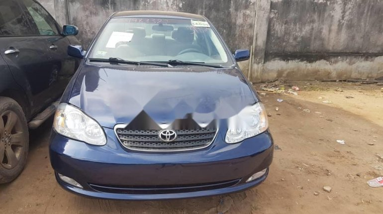 Foreign Used Toyota Corolla 2006 Model Blue-5