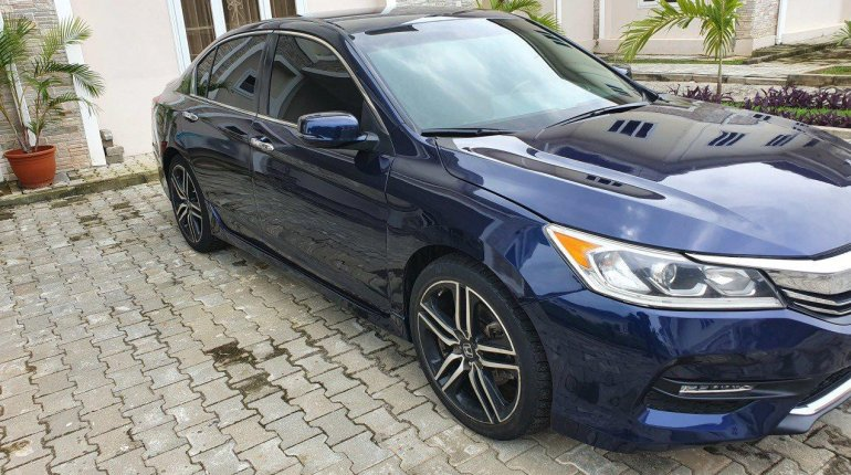 Foreign Used Honda Accord 2016 Model Blue-4