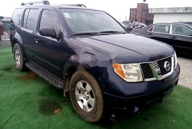 Nigeria Used Nissan Pathfinder 2005 Model Blue-9