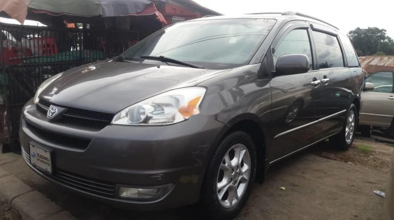 Foreign Used Toyota Sienna 2005 Model Gray-6