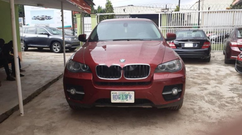 Nigeria Used BMW X6 2011 Model Red-5