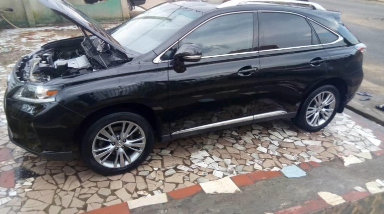 Foreign Used Lexus RX 2013 Model Black-6
