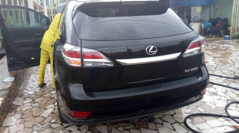 Foreign Used Lexus RX 2013 Model Black-5