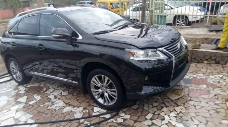 Foreign Used Lexus RX 2013 Model Black-8