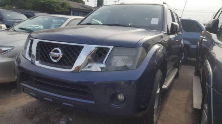 Foreign Used Nissan Pathfinder 2008 Model Blue -5