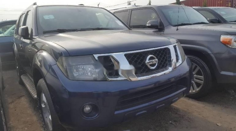 Foreign Used Nissan Pathfinder 2008 Model Blue -4