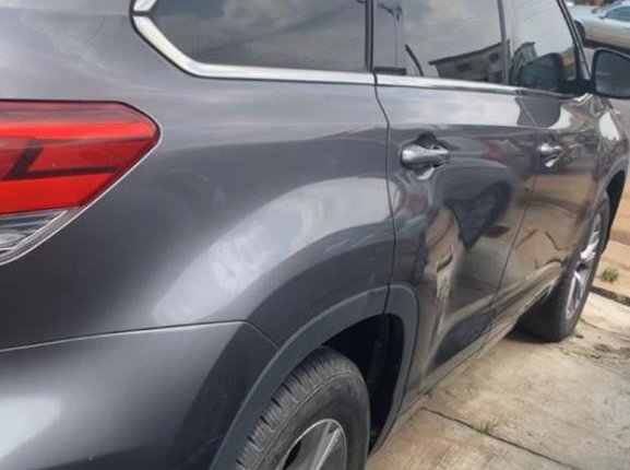 Foreign Used Toyota Highlander 2014 Model Gray-5