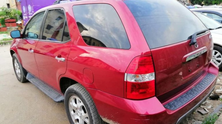 Foreign Used Acura MDX 2003 Model Red-0