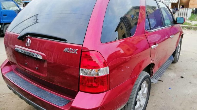 Foreign Used Acura MDX 2003 Model Red-3