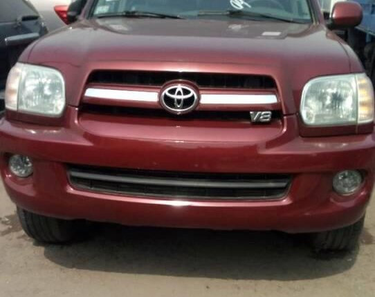 Foreign Used Toyota Sequoia 2007 Model Red-0