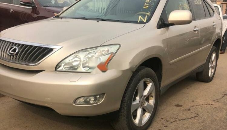 Foreign Used Lexus RX 2008 Model Gold -2