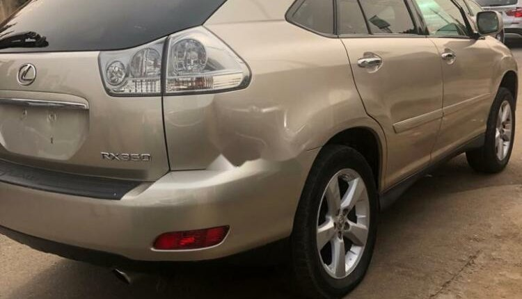 Foreign Used Lexus RX 2008 Model Gold -3