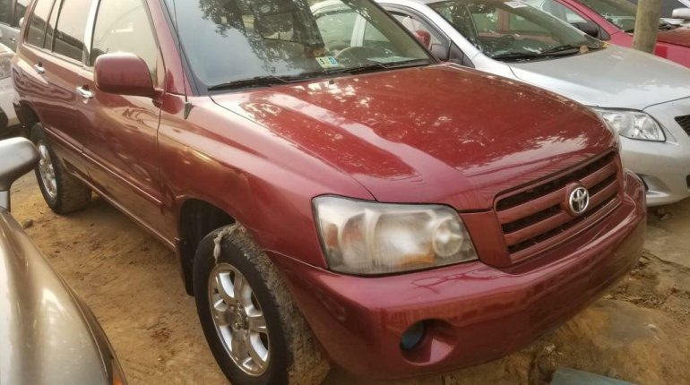 Nigeria Used Toyota Highlander 2005 Model Red-1