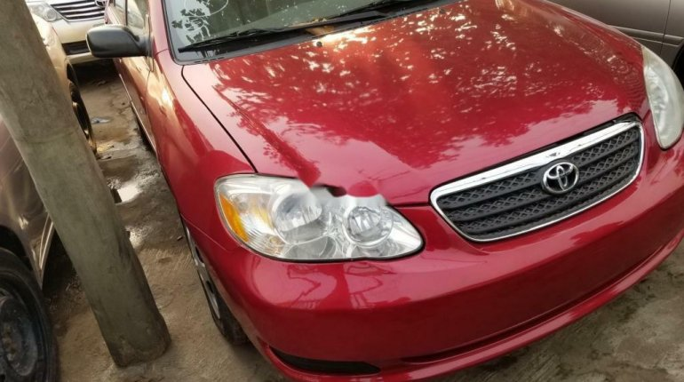 Foreign Used Toyota Corolla 2005 Model Red-0