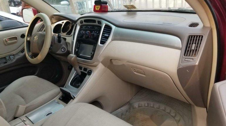 Nigeria Used Toyota Highlander 2005 Model Red-5