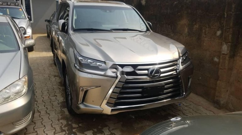 Foreign Used Lexus 570 2016 Model Gold -0