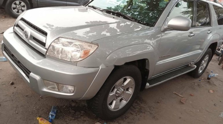 Foreign Used Toyota 4-Runner 2005 Model Silver-1