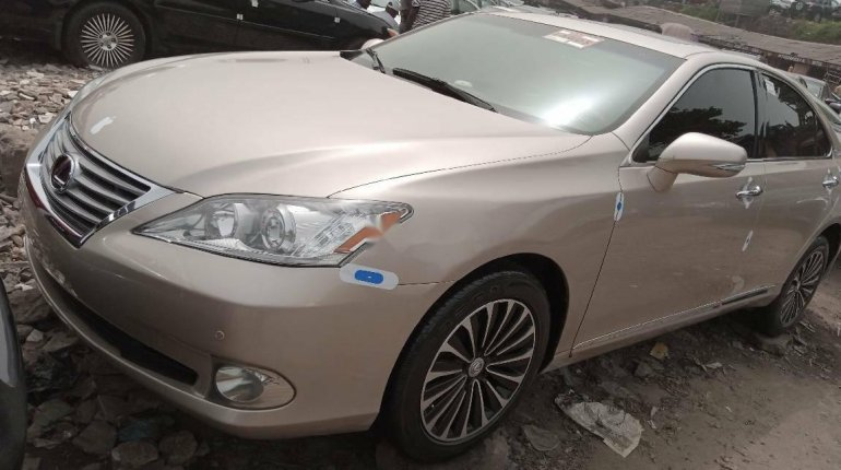 Foreign Used Lexus ES 2010 Model Gold-0