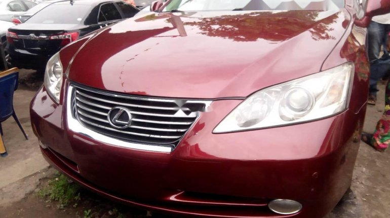 Foreign Used Lexus ES 2008 Model Red-0