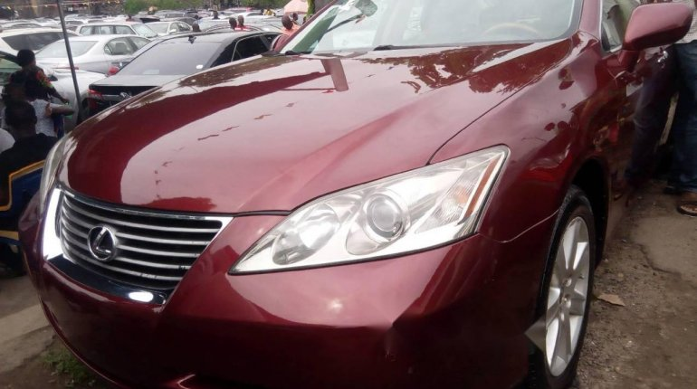 Foreign Used Lexus ES 2008 Model Red-1