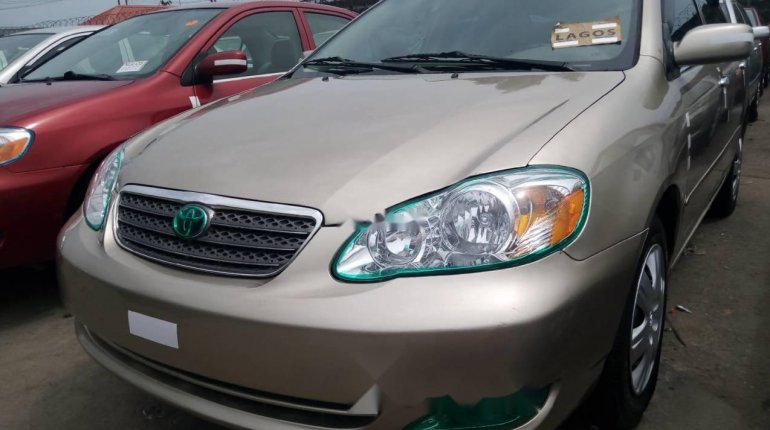 Foreign Used 2007 Gold Toyota Corolla for sale in Lagos. -1