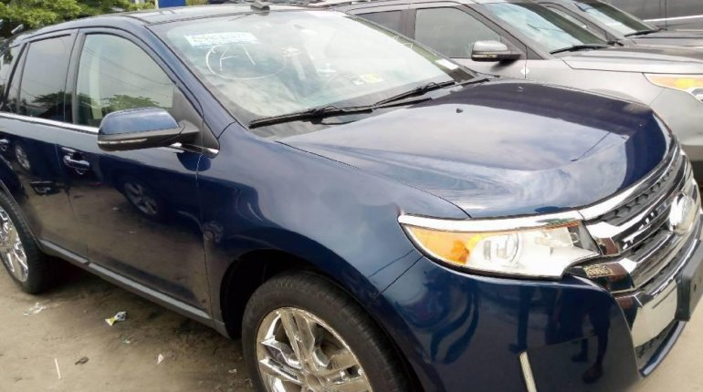 Foreign Used Ford Edge 2012 Model Blue -1