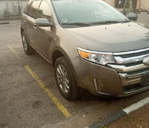 Foreign Used Ford Edge 2012 Model Gold -0
