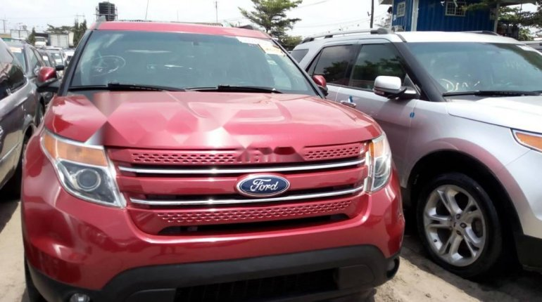Foreign Used Ford Explorer 2013 Model Red-0
