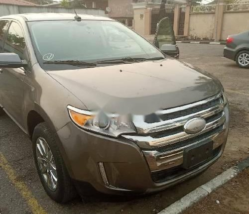Foreign Used Ford Edge 2012 Model Gold -4