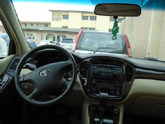 Foreign Used Toyota Highlander 2003 Model Silver-4