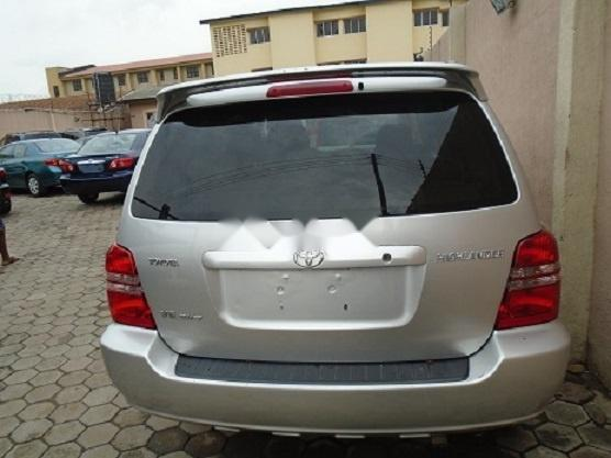 Foreign Used Toyota Highlander 2003 Model Silver-2