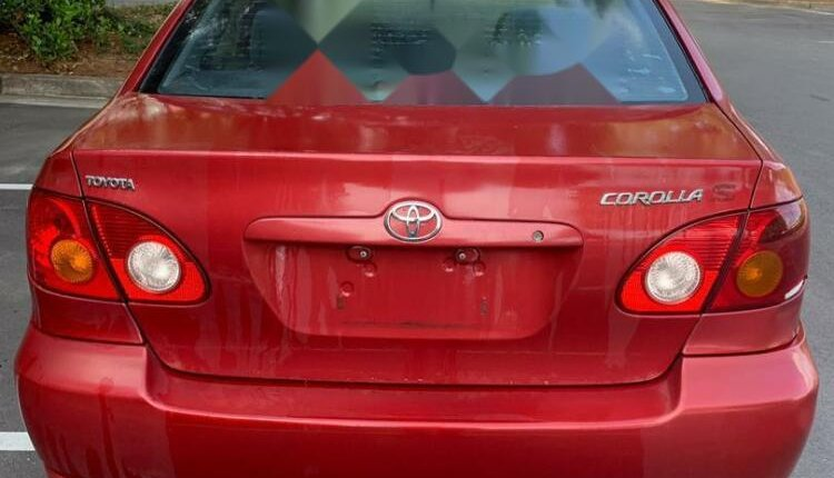 Foreign Used Toyota Corolla 2004 Model Red-2