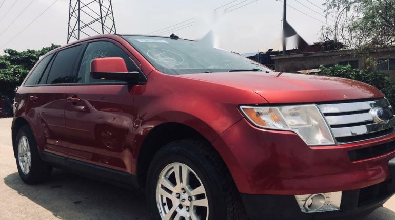 Foreign Used Ford Edge 2008 Model Red-7