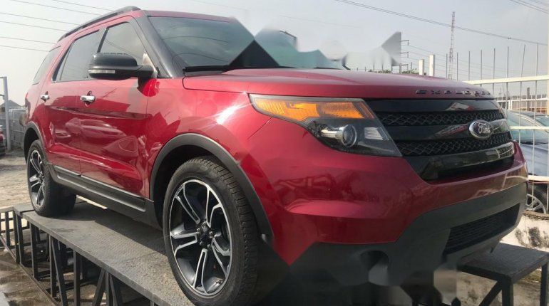 Foreign Used Ford Explorer 2014 Model Red-0