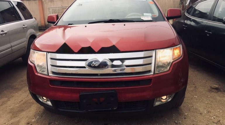 Foreign Used Ford Edge 2008 Model Red-0