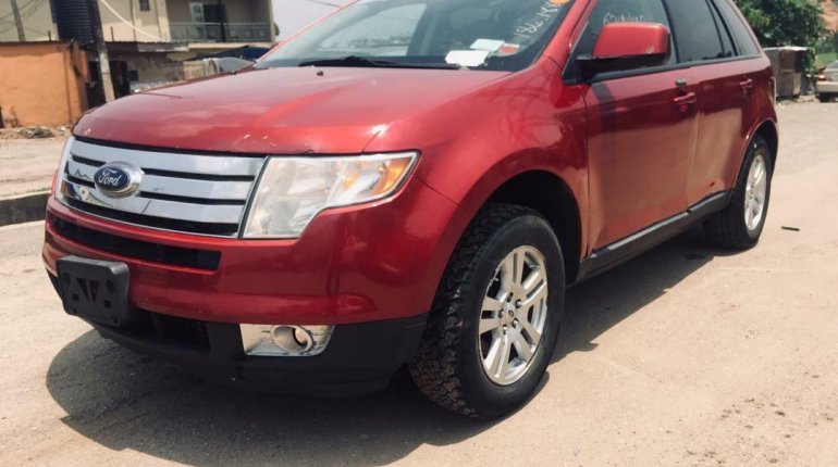 Foreign Used Ford Edge 2008 Model Red-8
