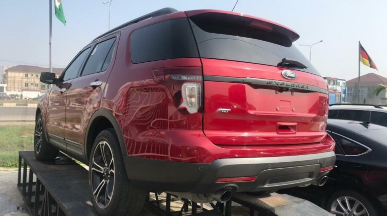 Foreign Used Ford Explorer 2014 Model Red-2