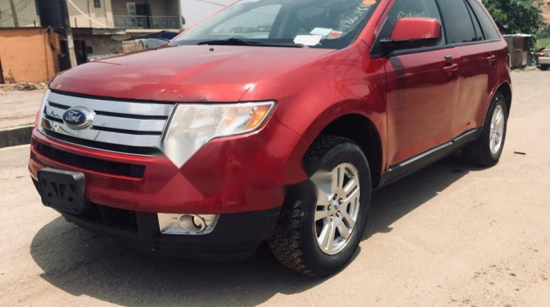 Foreign Used Ford Edge 2008 Model Red-1