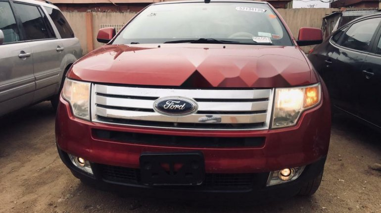 Foreign Used Ford Edge 2008 Model Red-4