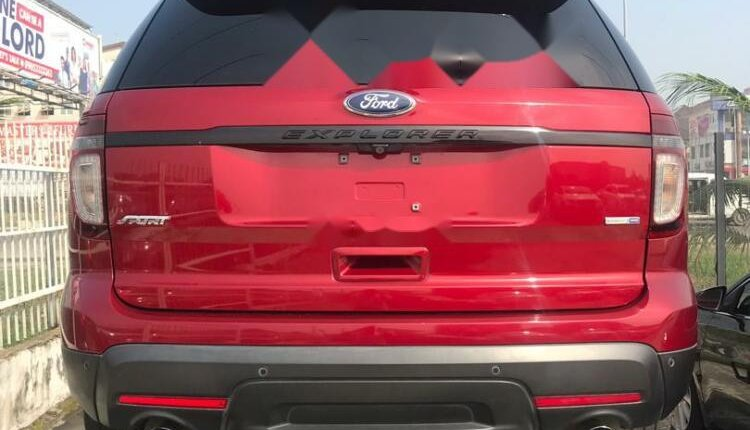 Foreign Used Ford Explorer 2014 Model Red-1