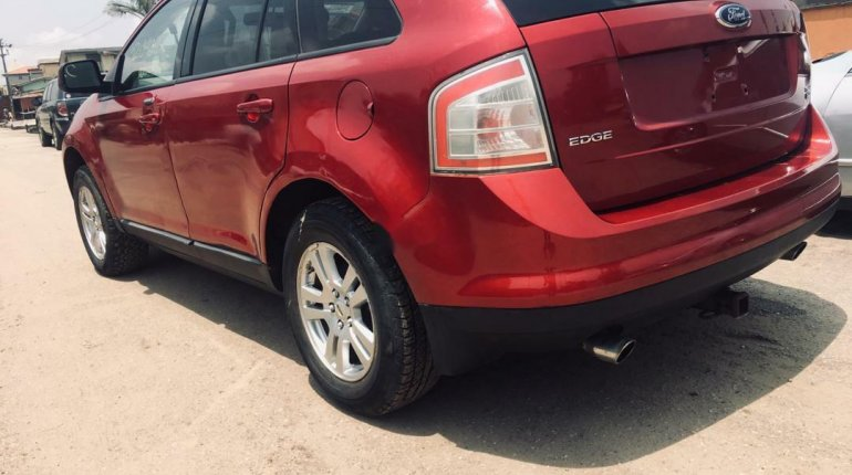 Foreign Used Ford Edge 2008 Model Red-3