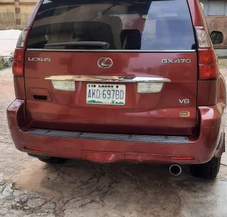 Nigeria Used Lexus GX 2009 Model Red-0