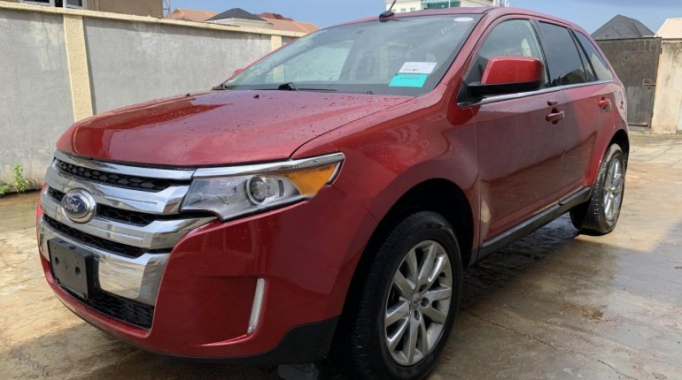 Foreign Used Ford Edge 2011 Model Red-8